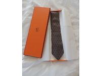 Hermes 100% Silk Tie - Boxed