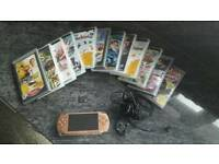 PSP with 12 games and 4GB memory card