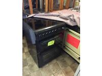 Reconditioned Black Hotpoint 60cm Electric Cooker