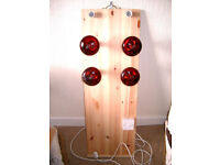Infra Red Sauna Board complete with Infra Red Bulbs
