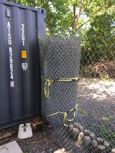 6' Chainlink fence with three gates and hardware