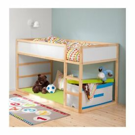 "IKEA ""Kura"" reversible bed, free mattress, bed tent **Bargain Price**"