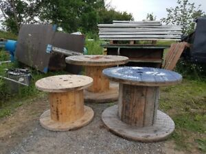 Wood Spools/ Tables