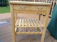 Quality butchers trolley with bags of storage