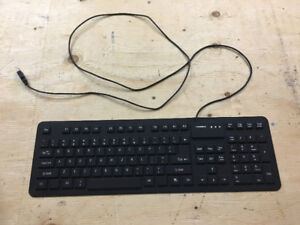 New Silent Gel Keyboard & 1 Microsoft Touch Wireless USB Mouse