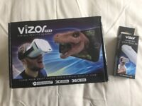 Vizor VR headset with remote control