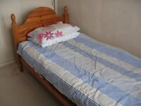 SINGLE BED WITH MEMORY MATTRESS