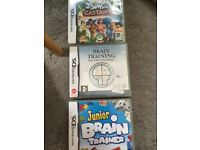 Nintendo DS games -The Sims 2 Castaway, Junior Brain trainer, Brain Training