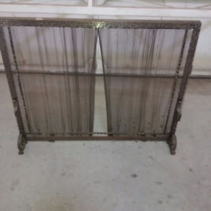 Fireplace Screen, hammered pewter