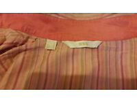 Mango 100% Silk Stripped Womens Ladies Long Sleeve Blouse Size 10 / M