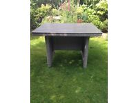 Wicker and wood grey table by Kettler