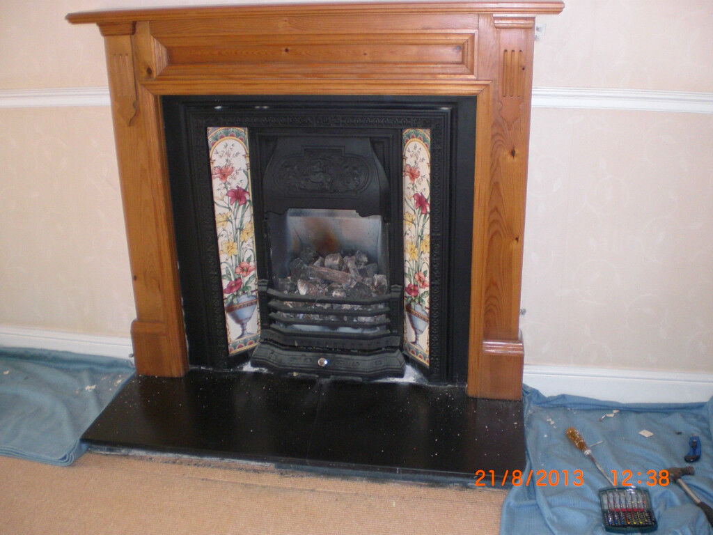 cast iron fireplace with tiles victorian design in west end