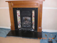 Cast Iron Fireplace with tiles (Victorian design)