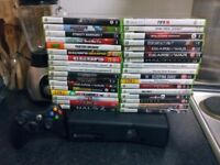 Xbox 360 with 34 games one controller hdmi huge cheap bundle must see BARGAIN