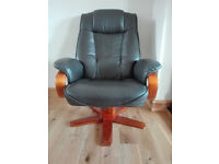 Leather reclining office chair in very good condition // free delivery
