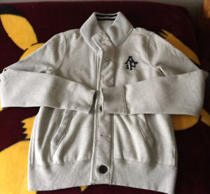 """Abercrombie & Fitch gray """"Muscle"""" Sweater-Jacket XL NEW"""