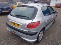 PEUGEOT 206 1.4 DIESEL, 5 DOOR, EXCELLENT DRIVE, ANY OLD CAR PX WELCOME, LOW MILES, SMOOTH ENGINE