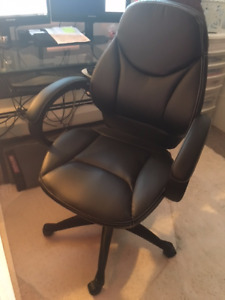 Office Chair - Faux Black Leather