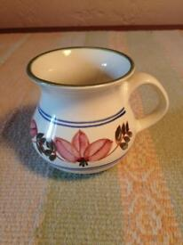 Iden pottery mug hand painted