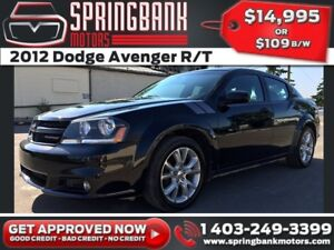 2012 Dodge Avenger R/T w/Leather, Sunroof $109B/W INSTANT APPROV