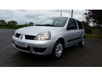 *!*LOW MILES*!* 2006 Renault Clio 1.2 8v Campus **FULL YEARS MOT** **ONE LADY OWNER FROM 2010**