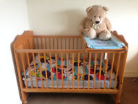 Cot Bed, Cotbed Deluxe Mattress and Top Changer-Junior Bed