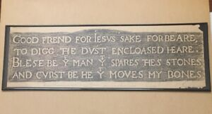 Shakespeare Grave Rubbing