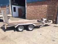 Ifor Williams Plant Trailer Twin Axle with Winch 2700KG 9' x 4' Bed