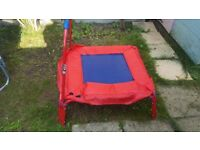 Indoor Outdoor Trampoline Red and Blue