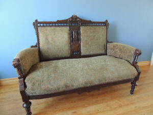 Antique loveseat, couch