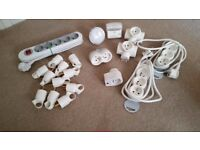 Assorted Continental Electric Plug tops, nightlights and multiboards