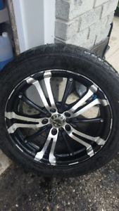 Set of 4  17 inch rims and tires