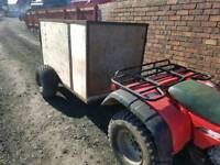 Quad atv livestock trailer has very good tyres