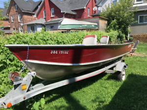 Lund Boat and 20 HP Mercury Motor
