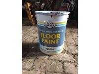 White FloorMaster floor paint
