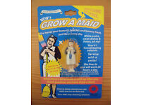 Unopened, in original packaging, Grow A Maid - can grow up to 600% its size! Adult novelty, not toy