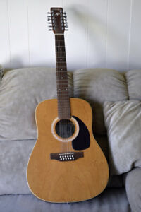 12 String Art & Lutherie Wild Cherry Guitar With Case.