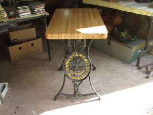 C W Williams sewing machine stand table