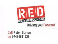 PeterBurton in connection with Red DrivingSchool. Driving tuition DVSA approved