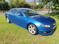2009 AUDI A4 2.0 TDI S LINE SALOON S/HISTORY MOT NOV 2018 LEATHER 2 KEYS DAY RUNNING LIGHTS