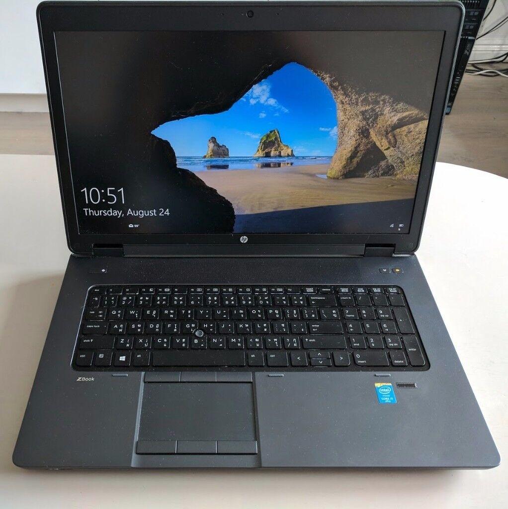 hp zbook 17 g2 laptop gaming monster i7 4910mq quadro k5100 8gb 32gb ram z turbo 256gb. Black Bedroom Furniture Sets. Home Design Ideas