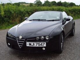 "Alfa Romeo Spider, 2008 full service history, 19 "" wheels & Alpline Sound / Navigation system"