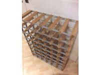 48 section wooden Wine rack extra large and very sturdy as new