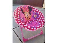 DISNEY Minnie Moon kids girls chair - folds flat