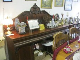 VINTAGE ORNATE 'BUFFET' SIDEBOARD. PILLARS DETACHABLE. VIEWING/DELIVERY AVAILABLE