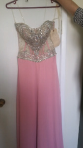 Beautiful pink blinged out size 2 dress