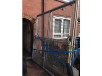 steel fabricated gates x2 8ftx8ft bargain £200