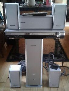 Panasonic home theater 6 ohm dvd system with  remote