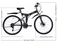 "Ecosmo 26"" Folding Mountain Bicycle Bike 21SP SHIMANO"