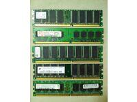 Five Desktop RAM chips of 512MB each for £20